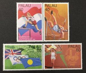 Palau 1996 #398a,400a, Athletes, MNH.