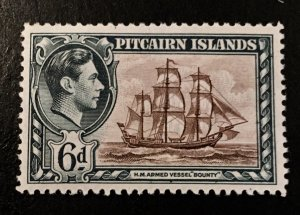 Pitcairn Islands Scott 6 KGVI Definitive Six Pence-Mint NH