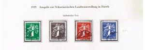 Switzerland Stamp 1939 National Philatelic Exhibition - INTALIAN Inscription $35
