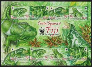 Fiji WWF Crested Iguana Brachylophus vilensis MS SG#MS1442