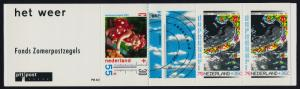 Netherlands B652a Booklet PB40 MNH Weather Map, Flowers