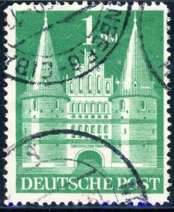 ALLEMAGNE / GERMANY Bizone 1948 Mi.97baYIIG(97.IIeg) 1DM T2 p.14 VF Used (c)
