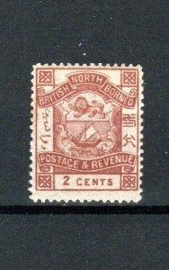 North Borneo 1889 2c brown MH