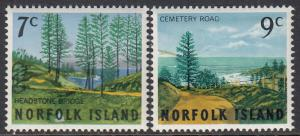 Norfolk Is. 88-9 MNH - Bridge and Road