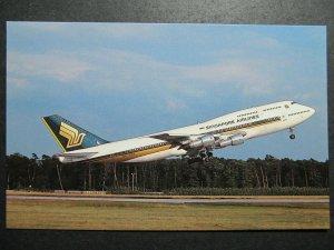 6605 Aviation Postcard  Singapore Airlines Boeing 747-312 9V-SKA