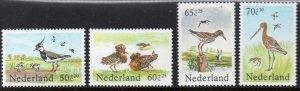 Netherlands MNH B600-3 Birds Semi-postals 1984