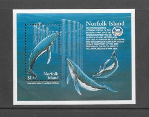 WHALES - NORFOLK ISLAND #676   MNH