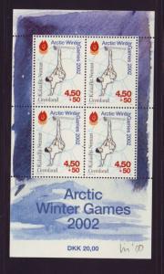 Greenland Sc B26a 2001 Arctic Games  stamp sheet mint NH