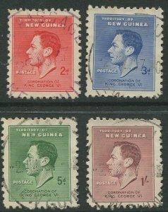 STAMP STATION PERTH New Guinea #48-51 KGVI Issue  FU 1937 CV$8.00