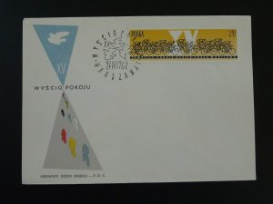 bicycle cyling race 1962 FDC Poland 78029