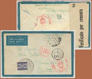 60056  - ITALIA Libya  - STORIA POSTALE - POSTA MILITARE 96  TASSATA a TRIESTE