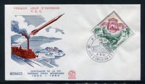Monaco FDC UPU 1st Postal Conference in Paris 1863 100th Ann. 1963 x28742