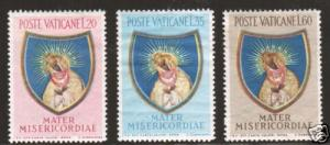 Vatican City Sc 189-191 MLH. 1954 Madonna of the Gate, cplt, F-VF
