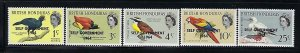 BRITISH HONDURAS SCOTT #182-186 1964 SELF GOVERNMENT OVERPRINTS - MINT LH