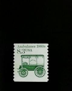 1985 8.3c Ambulance, Coil Scott 2128 Mint F/VF NH