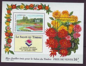Z464 jlstamps 1994 france s/s mnh #2444 flowers