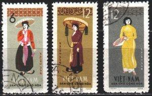 Vietnam. 1964. 307-9. Folk costumes. USED.