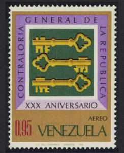 Venezuela 30th Anniversary of Office of Controller-General 1v SG#2034 SC#C992