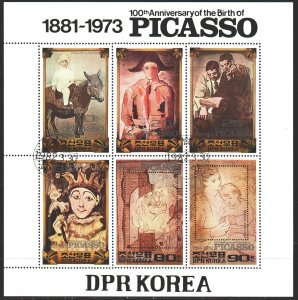 North Korea. 1982. bl 112. Picasso, paintings by the artist. USED.