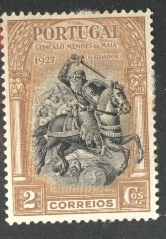Portugal  Scott 422 MH* from 1927 Second Independence Issue
