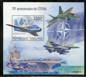TOGO 2019  70th ANNIVERSARY OF NATO  SOUVENIR SHEET MINT NH