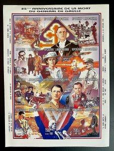Stamps De Gaulle Mint M/S 12values/ Timbres Feuillet De Gaulle 12valeurs