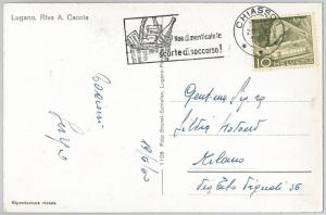 SWITZERLAND - POSTAL HISTORY: NICE postmark on POSTCARD 1960  - WINE Gastronomy