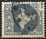 India: 1963; Sc. # 306, O/Used Wmk 324 Single Stamp