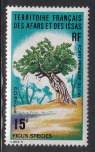 Afars & Issas 1974 MNH Scott #377 15fr Ficus species