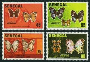 Senegal 555-558,559 ad sheet,MNH.Michel 759-762,763-766 Bl.41. Butterflies 1982.