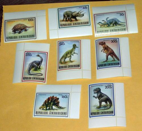 Central African Rep - 872-9, MNH Set - Dinosaurs- SCV $17.00