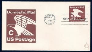 UNITED STATES FDC (20¢) 'C' Rate 1981 Andrews