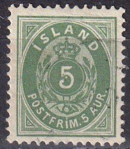 Iceland #24  F-VF  Used CV $3.00 (Z6417)