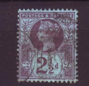 J19753 Jlstamps 1887-92 great britain used #114 queen