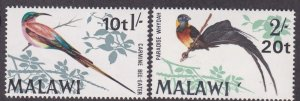 Malawi # 136-137, Birds - Dual Currency, NH, 1/2 Cat.
