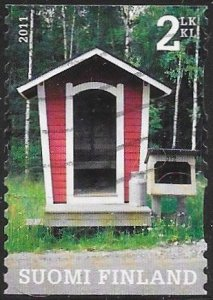 Finland 1370d Used - Mailboxes - Mailbox Next to Sauna