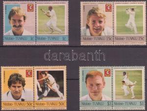 Tuvalu-Niutao stamp Cricket (I) 4 pairs MNH 1985 Mi 21-28 WS143054