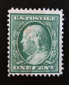 331 Wash/Franklin, 12 perf DLM, circ. single,Vic's Stamp Stash