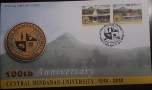 O) 2010 PHILIPPINES,CENTRAL MINDANAO UNIVERSITY, BUILDING, FDC XF