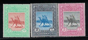 Sudan # 115-117   1954   MNH     SCV $ 2.00