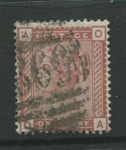 Great Britain #79 FU  1880  Single 1d Stamp