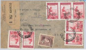 ARGENTINA - POSTAL HISTORY:  SERVICIO OFFICIAL stamps on COVER to ITALY : 1951