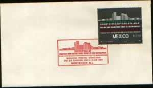 MEXICO 1479 FDC Congress of Metropolitan Areas Metropolis87