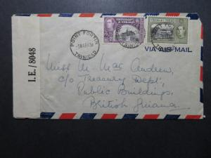 Trinidad 1943 Port Fortin Censor Cover to British Guiana - Z10707