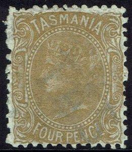 TASMANIA 1891 QV 4D WMK TAS WITH LINES PERF 12