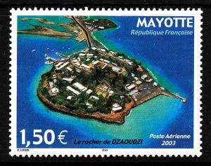 Mayotte MNH Scott #C6 1.50Euro Dzaoudzi Rock