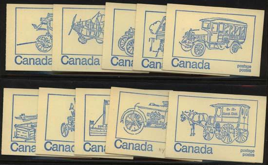 Canada USC #BK71a Ten Diff. Covers Complete - Untagged Black Seal