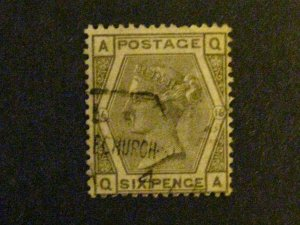 Great Britain #62 used plate 16 c203 288