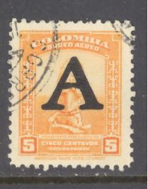 Colombia Sc # C186 used (DT)