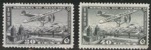 MEXICO Scott C26-27 MH* 1929 airmail set